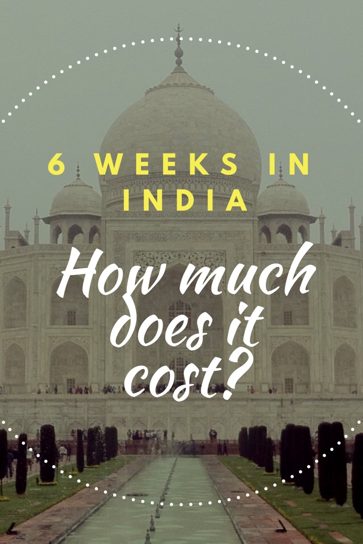 6 weeks in India - How much does it cost?