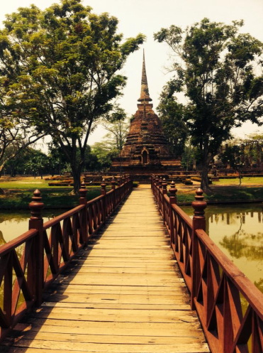 The ancient ruins - Sukhothai