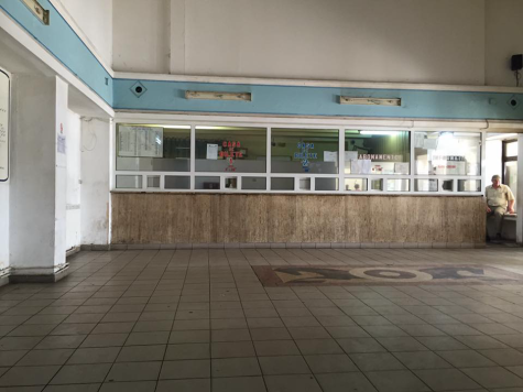 Inside the bus station