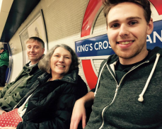 Shaun and his parents in London
