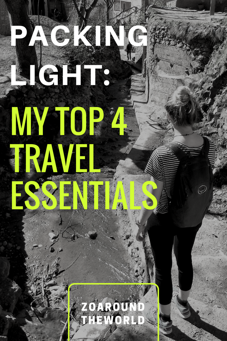 4 travel essentials for packing light