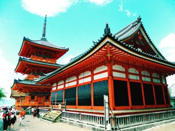 One of the many temples in Kyoto