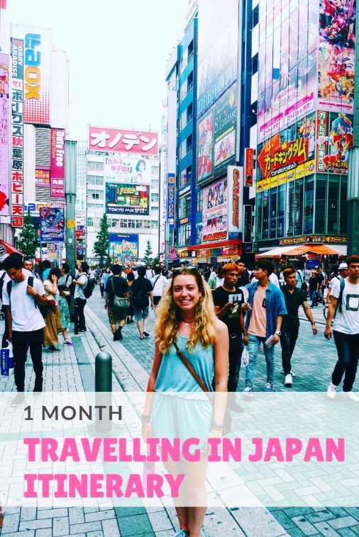 1 month travelling in Japan itinerary