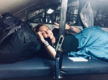 Overnight train in India, 2018